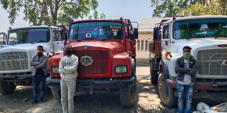 Corona Curfew Violation: 3 Persons Arrested As Many Vehicles Seized in Budgam